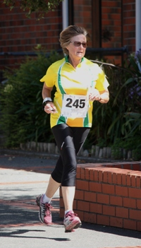 Bryony Cox in action in the Oceania Sprint Challenge in Wellington, New Zealand